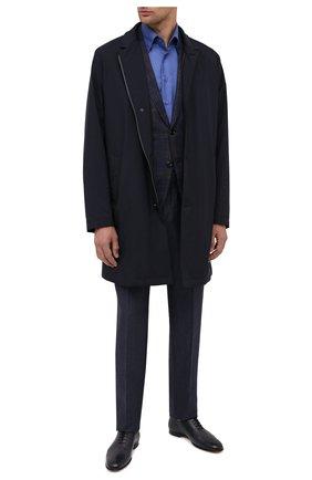 Мужская сорочка из кашемира и шелка ZILLI синего цвета, арт. MFU-00503-87060/0001 | Фото 2