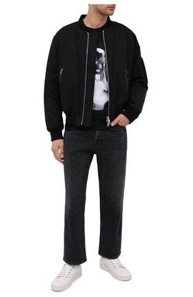 Мужская хлопковая футболка DIEGO VENTURINO черного цвета, арт. FW20-DV TS RPS   Фото 2