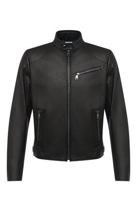 Мужская кожаная куртка RALPH LAUREN черного цвета, арт. 790649685 | Фото 1