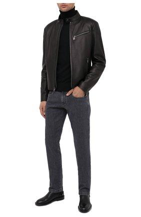 Мужская кожаная куртка RALPH LAUREN черного цвета, арт. 790649685 | Фото 2