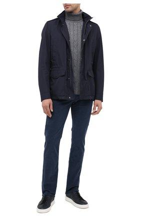 Мужской шерстяной свитер DANIELE FIESOLI светло-серого цвета, арт. DF 0076 | Фото 2