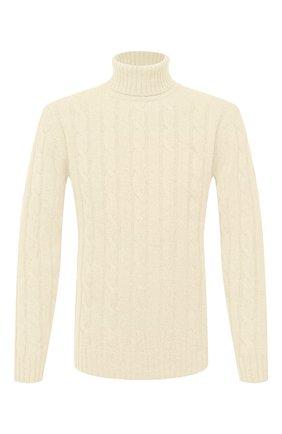 Мужской шерстяной свитер DANIELE FIESOLI белого цвета, арт. DF 0076 | Фото 1