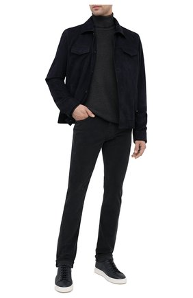 Мужской шерстяная водолазка DANIELE FIESOLI темно-серого цвета, арт. DF 0014 | Фото 2