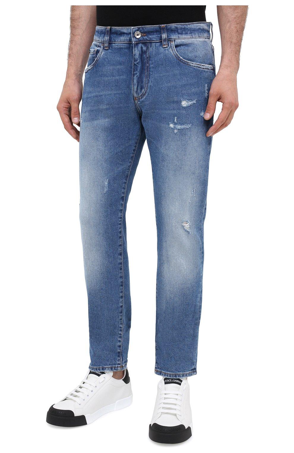 Мужские джинсы DOLCE & GABBANA голубого цвета, арт. GY07CD/G8CS2 | Фото 3