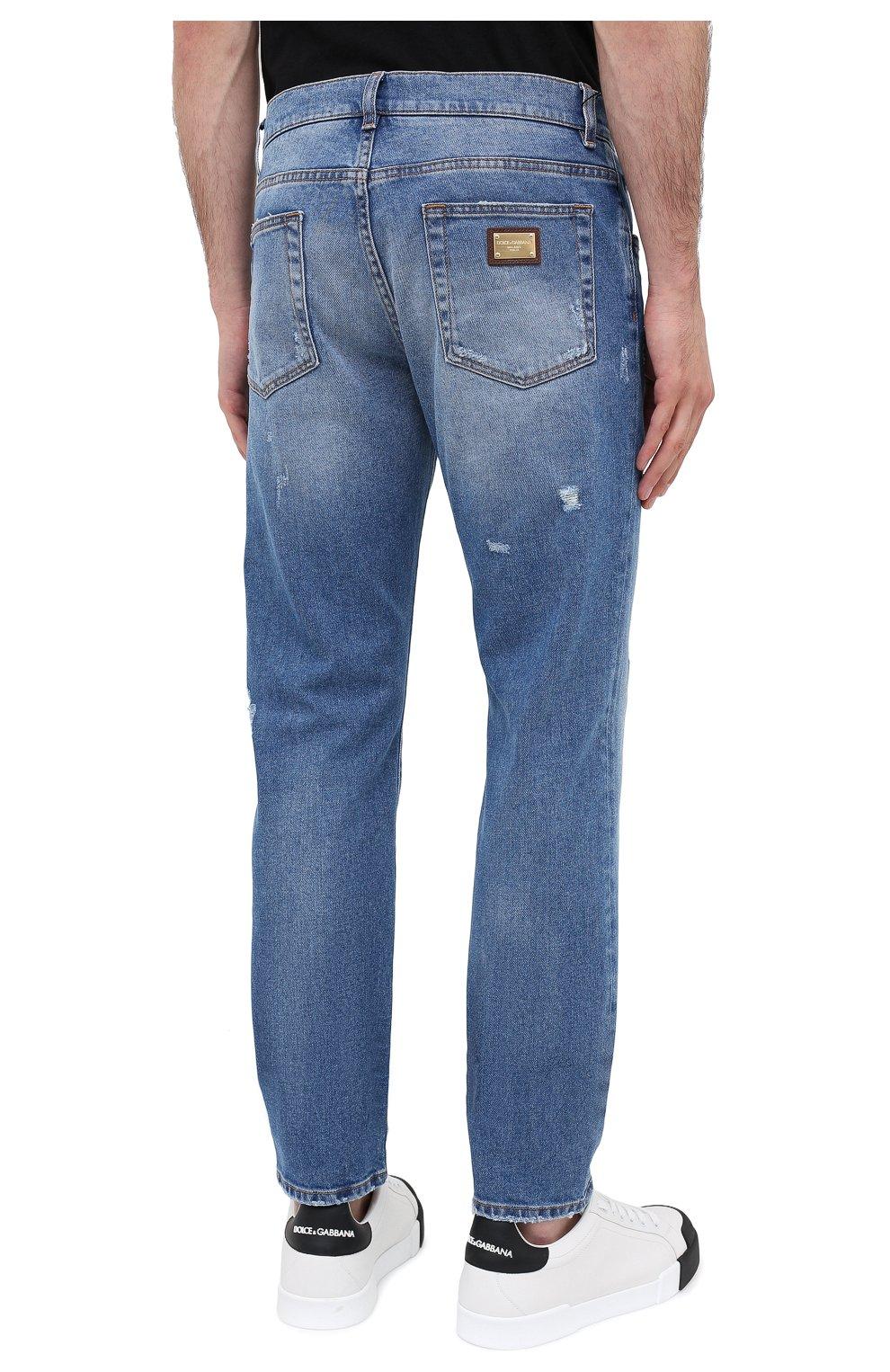 Мужские джинсы DOLCE & GABBANA голубого цвета, арт. GY07CD/G8CS2 | Фото 4