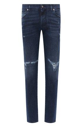Мужские джинсы DOLCE & GABBANA синего цвета, арт. GY07CD/G8CR5 | Фото 1