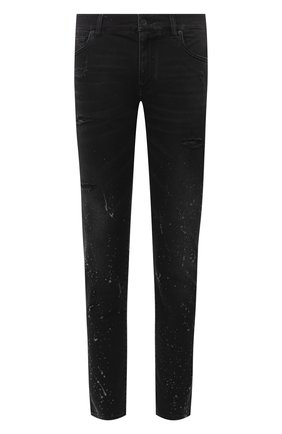 Мужские джинсы DOLCE & GABBANA черного цвета, арт. GY07CD/G8C05 | Фото 1