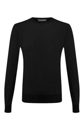 Мужской шерстяной джемпер DOLCE & GABBANA черного цвета, арт. GXA63Z/JAVWH | Фото 1