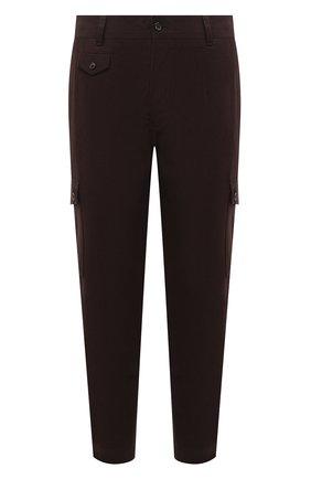Мужские хлопковые брюки-карго DOLCE & GABBANA коричневого цвета, арт. GWR2AT/FUFKQ | Фото 1