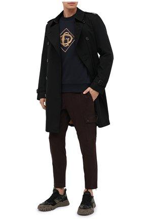 Мужские хлопковые брюки-карго DOLCE & GABBANA коричневого цвета, арт. GWR2AT/FUFKQ | Фото 2