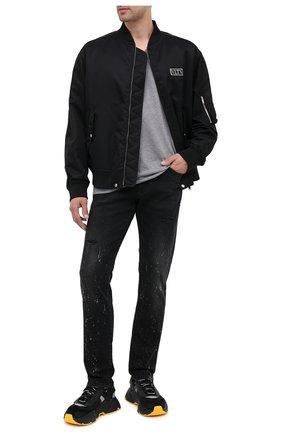 Мужская хлопковая футболка DOLCE & GABBANA серого цвета, арт. G8KG0Z/G7WTZ | Фото 2