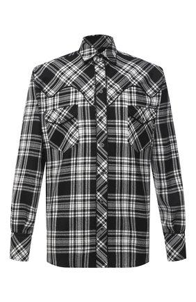 Мужская шерстяная рубашка DOLCE & GABBANA черно-белого цвета, арт. G5HY2T/FQMG7 | Фото 1