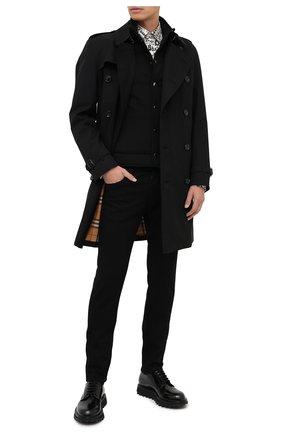 Мужская хлопковая рубашка DOLCE & GABBANA черно-белого цвета, арт. G5GE6T/HS5H8 | Фото 2
