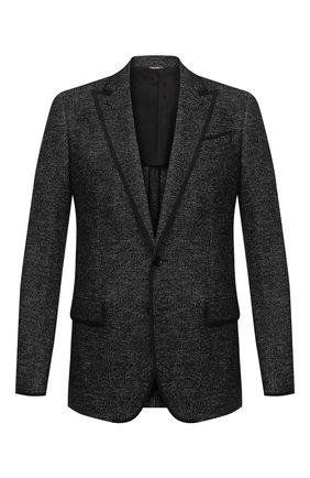 Мужской пиджак DOLCE & GABBANA темно-серого цвета, арт. G20X0T/FM7B9 | Фото 1