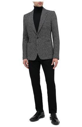 Мужской пиджак из шерсти и хлопка DOLCE & GABBANA темно-серого цвета, арт. G20W7T/FC7AR | Фото 2