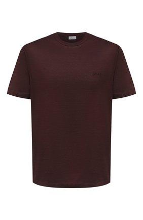 Мужская хлопковая футболка BRIONI коричневого цвета, арт. UJCA0L/PZ600 | Фото 1