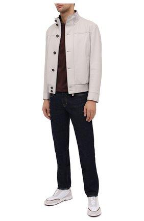 Мужская хлопковая футболка BRIONI коричневого цвета, арт. UJCA0L/PZ600 | Фото 2