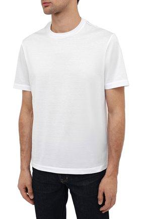 Мужская хлопковая футболка BRIONI белого цвета, арт. UJCA0L/PZ600 | Фото 3