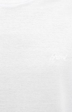 Мужская хлопковая футболка BRIONI белого цвета, арт. UJCA0L/PZ600 | Фото 5