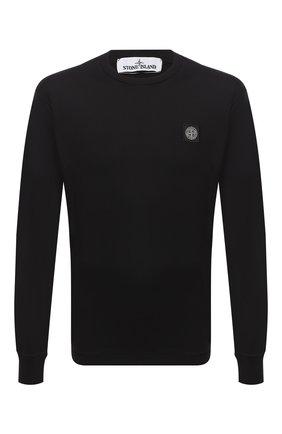 Мужская хлопковый лонгслив STONE ISLAND черного цвета, арт. 731522713 | Фото 1