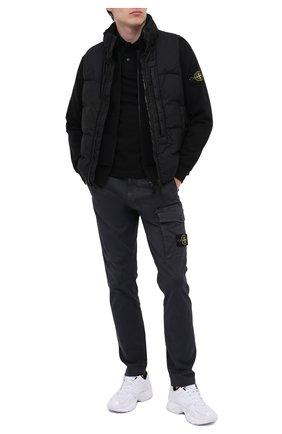 Мужское хлопковое поло STONE ISLAND черного цвета, арт. 73152SS18 | Фото 2