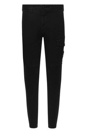 Мужской хлопковые брюки STONE ISLAND черного цвета, арт. 7315312L1 | Фото 1