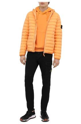 Мужской хлопковые брюки STONE ISLAND черного цвета, арт. 7315312L1 | Фото 2