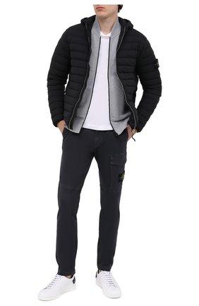 Мужской хлопковые брюки STONE ISLAND темно-серого цвета, арт. 7315312L1 | Фото 2