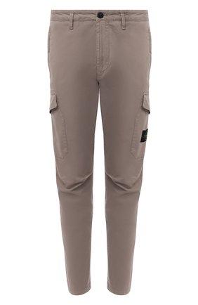 Мужской хлопковые брюки-карго STONE ISLAND серого цвета, арт. 731531310 | Фото 1