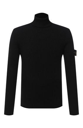 Мужской шерстяной свитер STONE ISLAND черного цвета, арт. 7315522C2 | Фото 1