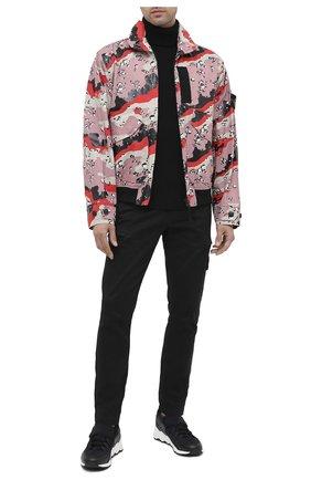 Мужской шерстяной свитер STONE ISLAND черного цвета, арт. 7315522C2 | Фото 2