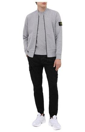 Мужская хлопковая толстовка STONE ISLAND светло-серого цвета, арт. 731560220 | Фото 2