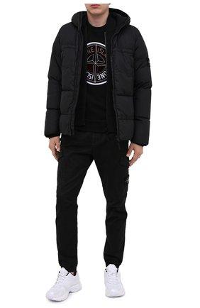 Мужской хлопковый свитшот STONE ISLAND черного цвета, арт. 731563094 | Фото 2