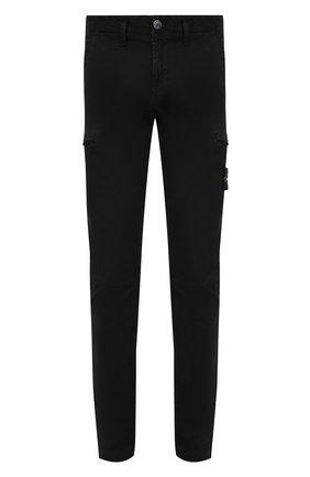 Мужской хлопковые брюки-карго STONE ISLAND черного цвета, арт. 7315321L1 | Фото 1