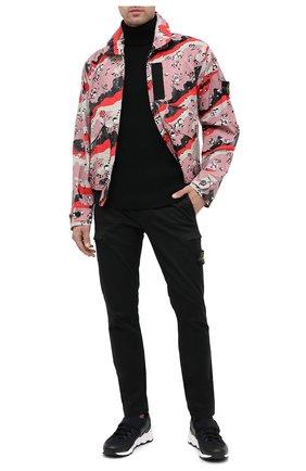 Мужской хлопковые брюки-карго STONE ISLAND черного цвета, арт. 7315321L1 | Фото 2
