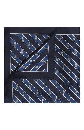 Мужской шелковый платок GUCCI синего цвета, арт. 630520/4G001 | Фото 1