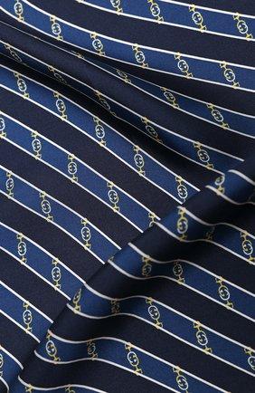 Мужской шелковый платок GUCCI синего цвета, арт. 630520/4G001 | Фото 2