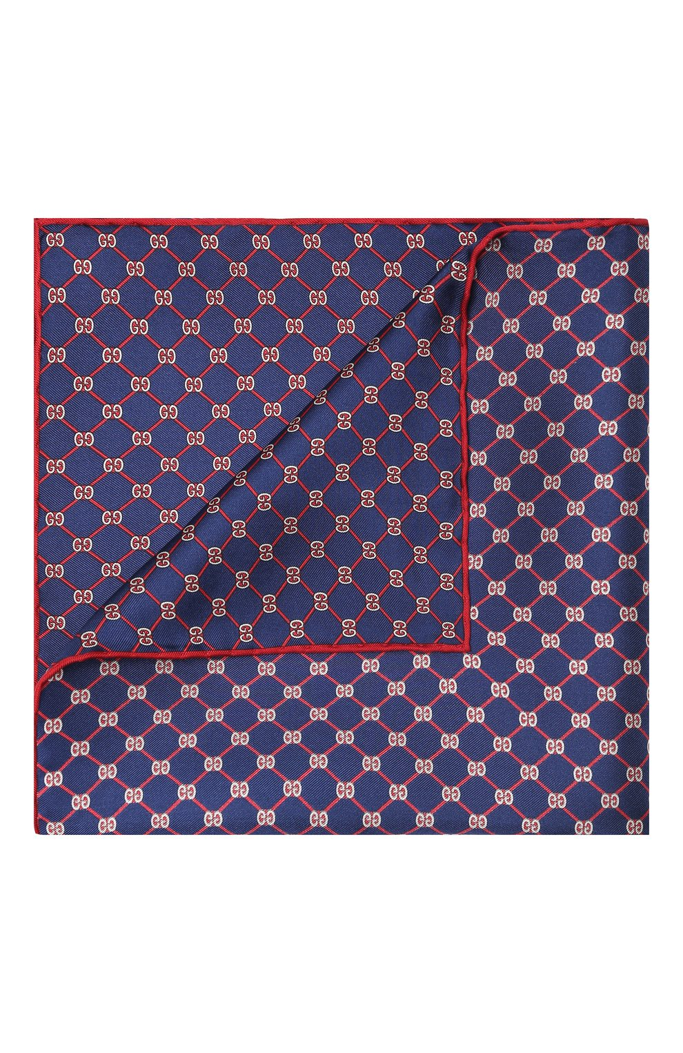 Мужской шелковый платок GUCCI синего цвета, арт. 630517/4G001   Фото 1