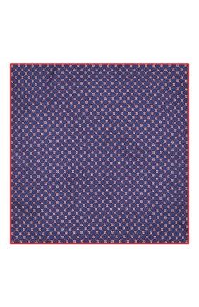 Мужской шелковый платок GUCCI синего цвета, арт. 630517/4G001   Фото 3