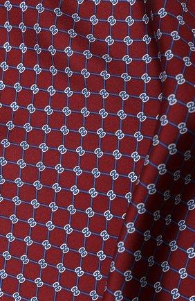 Мужской шелковый платок GUCCI бордового цвета, арт. 630517/4G001 | Фото 2