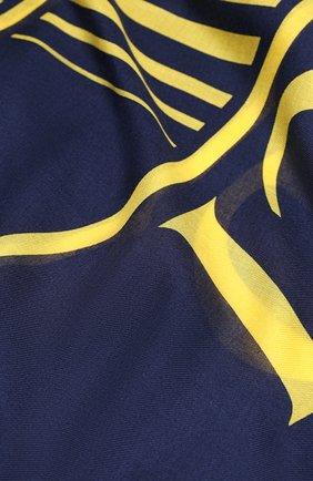 Мужской шарф GUCCI синего цвета, арт. 630504/4GB14 | Фото 2