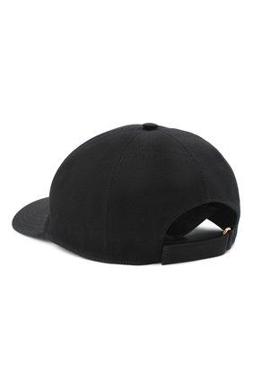 Мужской хлопковая бейсболка GUCCI черного цвета, арт. 627043/4HK02 | Фото 2