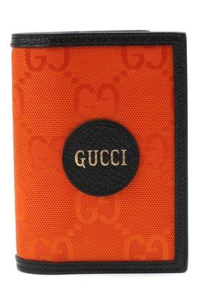 Мужская комбинированная обложка для паспорта off the grid GUCCI оранжевого цвета, арт. 625584/H9HAN | Фото 1