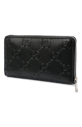 Мужской кожаное портмоне GUCCI черного цвета, арт. 625563/1W3AN | Фото 2