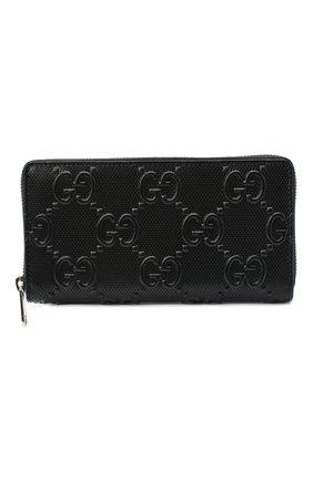 Мужской кожаное портмоне GUCCI черного цвета, арт. 625558/1W3AN | Фото 1