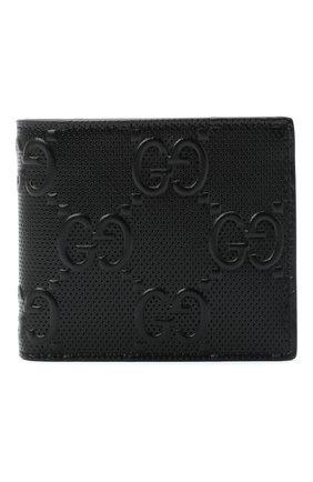 Мужской кожаное портмоне GUCCI черного цвета, арт. 625555/1W3AN | Фото 1
