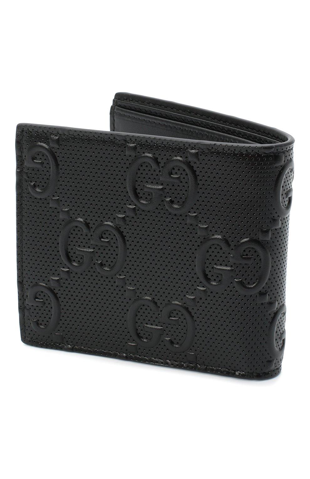 Мужской кожаное портмоне GUCCI черного цвета, арт. 625555/1W3AN | Фото 2