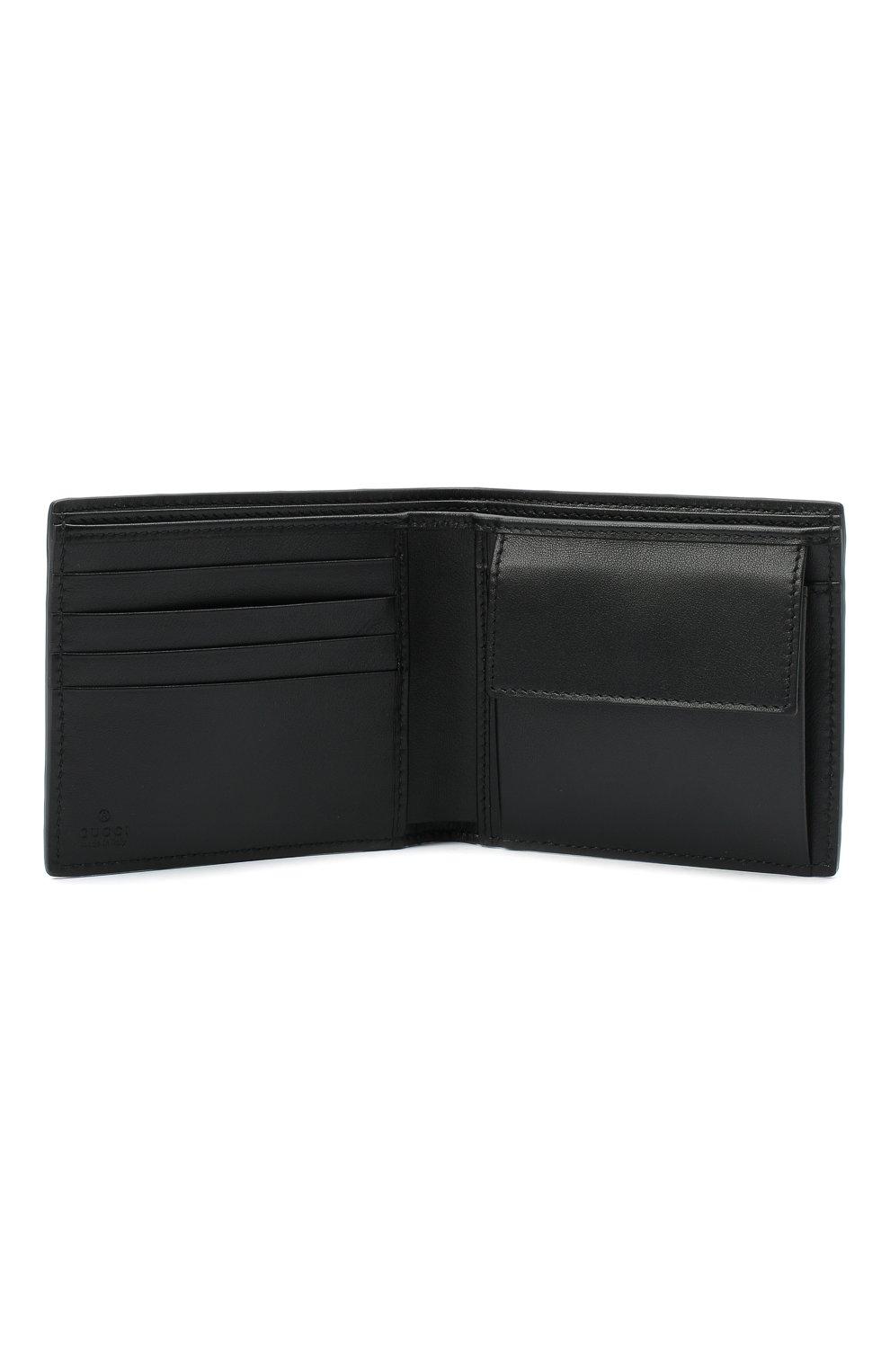 Мужской кожаное портмоне GUCCI черного цвета, арт. 625555/1W3AN | Фото 3