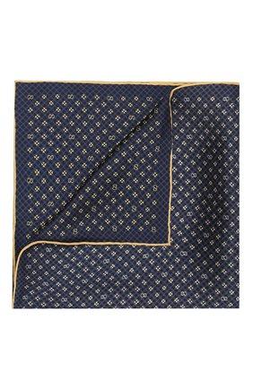 Мужской шелковый платок GUCCI синего цвета, арт. 604097/4GA57 | Фото 1