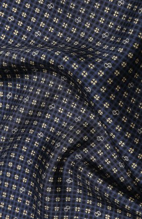 Мужской шелковый платок GUCCI синего цвета, арт. 604097/4GA57 | Фото 2